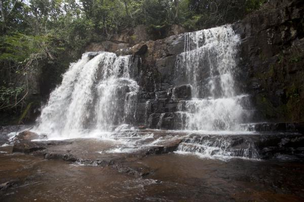 The lowest level waterfall of the Chutes de la Karera | Chutes de la Karera | Burundi