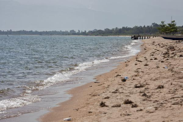 Looking east, towards the DRC, along Saga beach | Saga Beach | Burundi