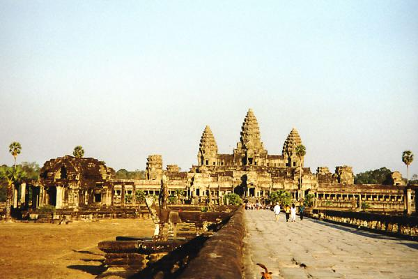 Foto van The central structure of Angkor WatAngkor Wat - Cambodja