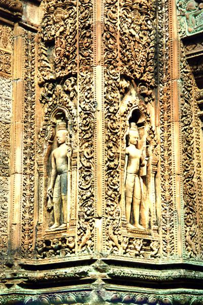 Picture of Angkor Wat (Cambodia): Detail of a decorated temple of Angkor Wat