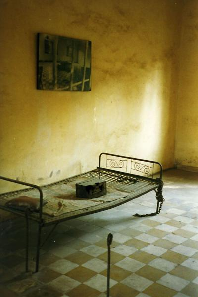 Endless rows of pictures of loved ones who went missing forever. | Tuol Sleng Prison | Cambodia