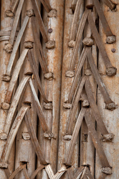Close-up of the outer wall of the Case | Bandjoun chefferie | Cameroon