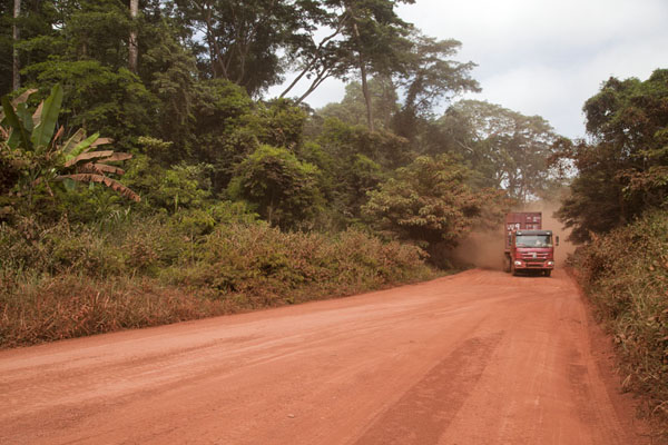 Truck on the main road south from Yokadouma | Bertoua to Libongo | Cameroon