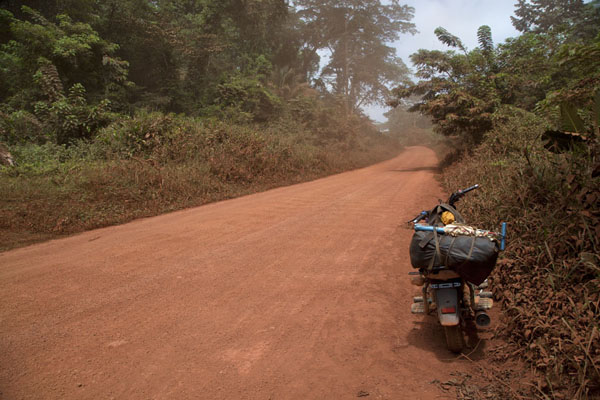 Picture of Bertoua to Libongo (Cameroon): Motorbike on the long road through the rainforest to Libongo