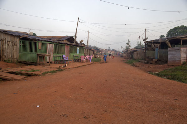 Picture of Bertoua to Libongo (Cameroon): Looking up the main street of Libongo