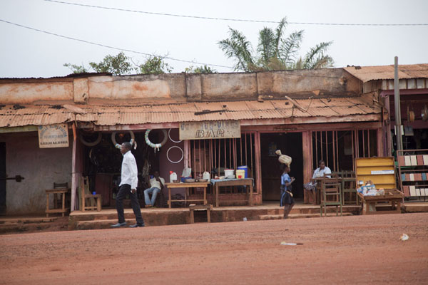 Picture of Bertoua to Libongo (Cameroon): Shops on the main street of Yokadouma