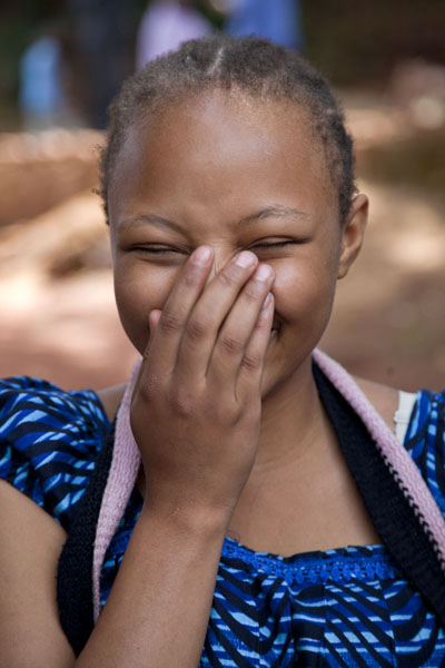 Girl laughing into the camera | Cameroonian people | Cameroon