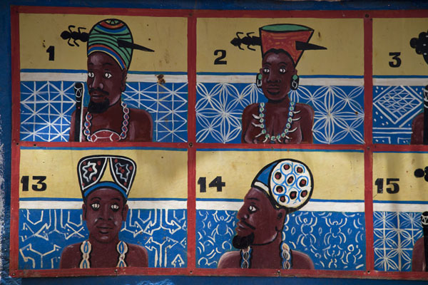 All the sultans are depicted on a wall | Sultan Palace | Cameroon