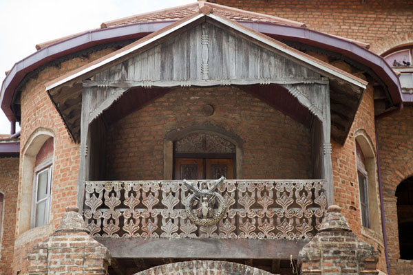 Picture of Balcony of the Sultan palaceFoumban - Cameroon