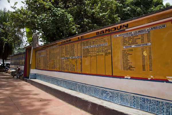 Wall with all the sultans and foreign rulers of the Bamoun dynasty | Sultan Palace | Cameroon