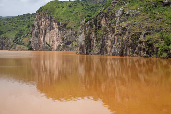 The cliffs of Lake Nyos | Grassfields Ring Road | Cameroon