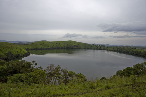 Lake Wum seen from the crater rim | Grassfields Ring Road | Cameroon