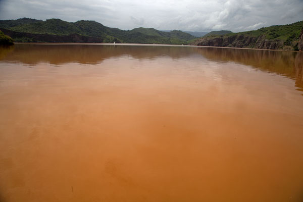 Lake Nyos, beautiful colours, tragic history | Grassfields Ring Road | Cameroon