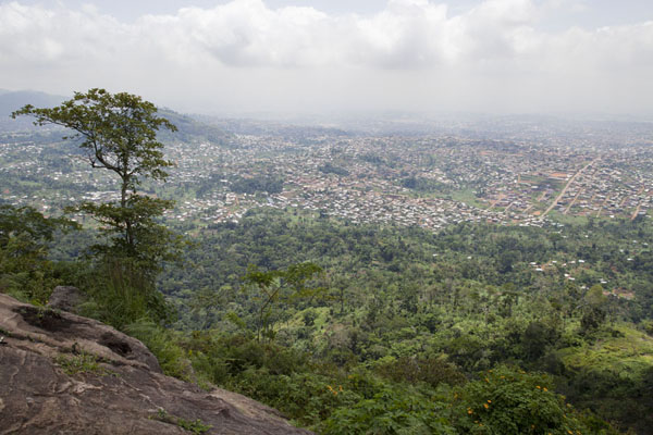 Looking towards the Cameroonian capital of Yaoundé from Mount Eloundem | Mount Eloundem | Cameroon
