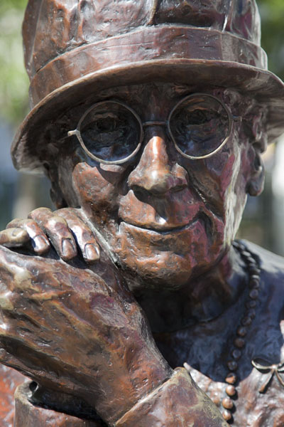 Picture of Detail of the sculpture Woman are Persons!, depicting Louise McKinneyCalgary - Canada