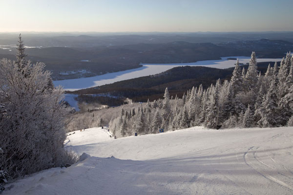 View towards Lake Tremblant from one of the south side slopes | Mount Tremblant Skiing | Canada
