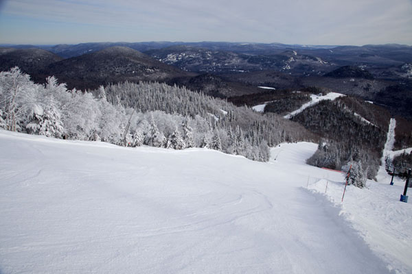 Looking down one of the runs of the north side of Mont Tremblant | Mount Tremblant Skiing | Canada