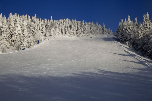 One of the many empty slopes of Mont Tremblant | Mount Tremblant Skiing | Canada