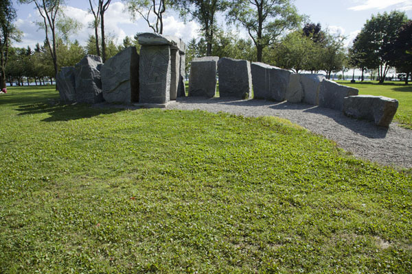 Picture of Vortexit II is an installation of stones by Bill VazanMontreal - Canada