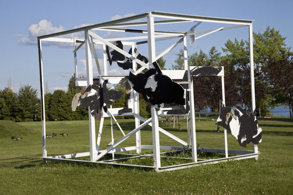 Picture of Parc René Lévesque (Canada): This installation with cats, called Hermès, can be found in the middle of the park