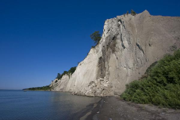 Picture of Scarborough Bluffs (Canada): Scarborough Bluffs rising high above the beach on a summer morning