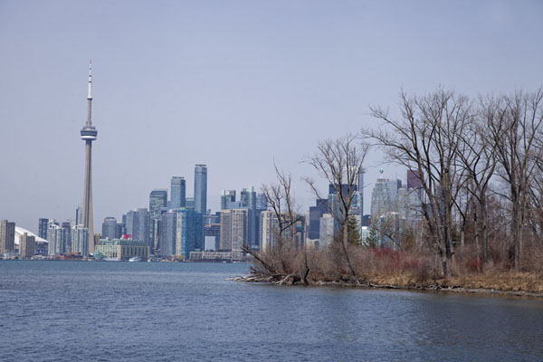Foto van View of the skyline of Toronto from Toronto Islands - Canada - Amerika