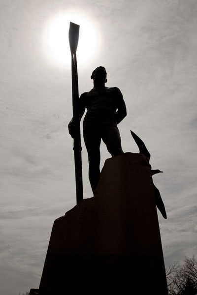 Picture of Statue of Ned Hanlan at the western side of Centre IslandToronto - Canada