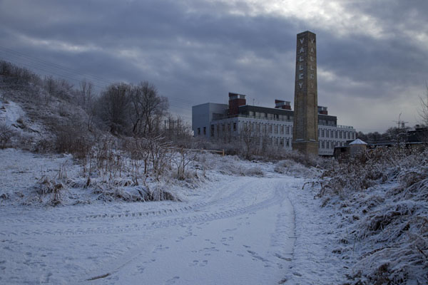 Picture of Toronto Ravine Walk (Canada): The chimney of the Don Valley Brickworks factory