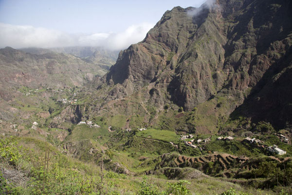 Picture of Coculi to Rabo Curto hike (Cape Verde): Looking back into Chã de Pedra