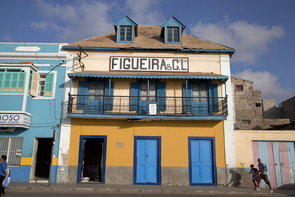 Picture of Building on the waterfront of Mindelo in the afternoon sun