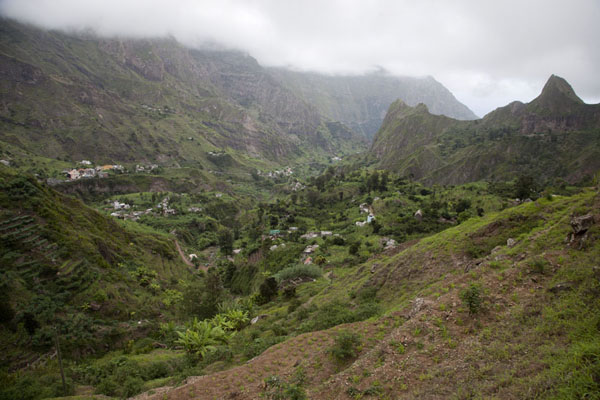 Picture of View of Ribeira do Paúl from above - Cape Verde - Africa