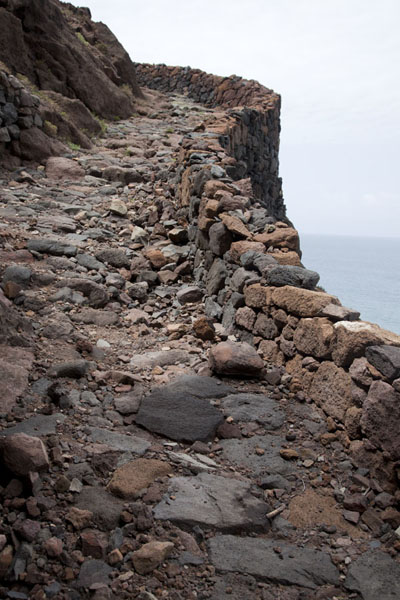 The stoney path runs right next to the coastline | Ponta do Sol to Chã de Igreja | Cabo Verde