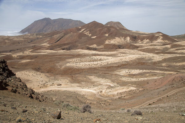 Picture of Tarrafal (Cape Verde): The mountains above Tarrafal, with the Topo da Coroa in the background