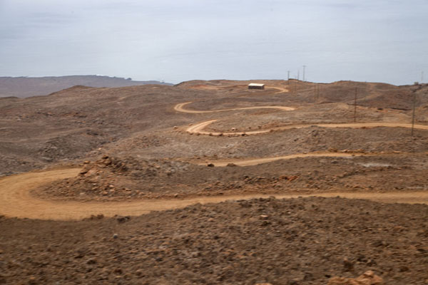 Picture of Tarrafal (Cape Verde): The bends in the road to Tarrafal