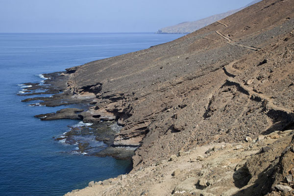 Picture of Tarrafal (Cape Verde): Trail to Monte Trigo with the rugged western coastline of Santo Antão