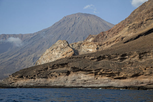 Picture of Tarrafal (Cape Verde): Topo da Coroa volcano dominating the west coast of Santo Antão