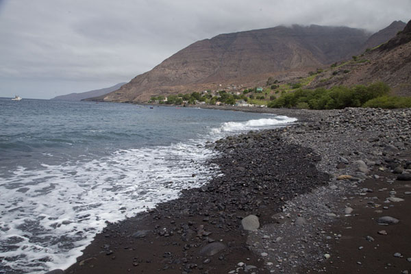 Picture of Tarrafal (Cape Verde): Black stone beach at Tarrafal