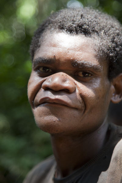 Picture of One of the BaAka pygmies after the huntBayanga - Central African Republic