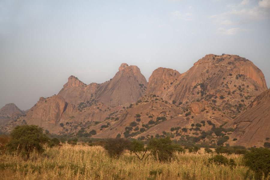 Range of rocky mountains at Ab Touyour | Ab Touyour | Chad