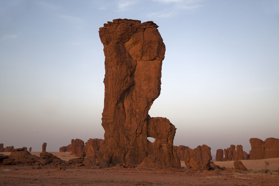Tall rock formation in the late afternoon | Abaike Tassili | Chad