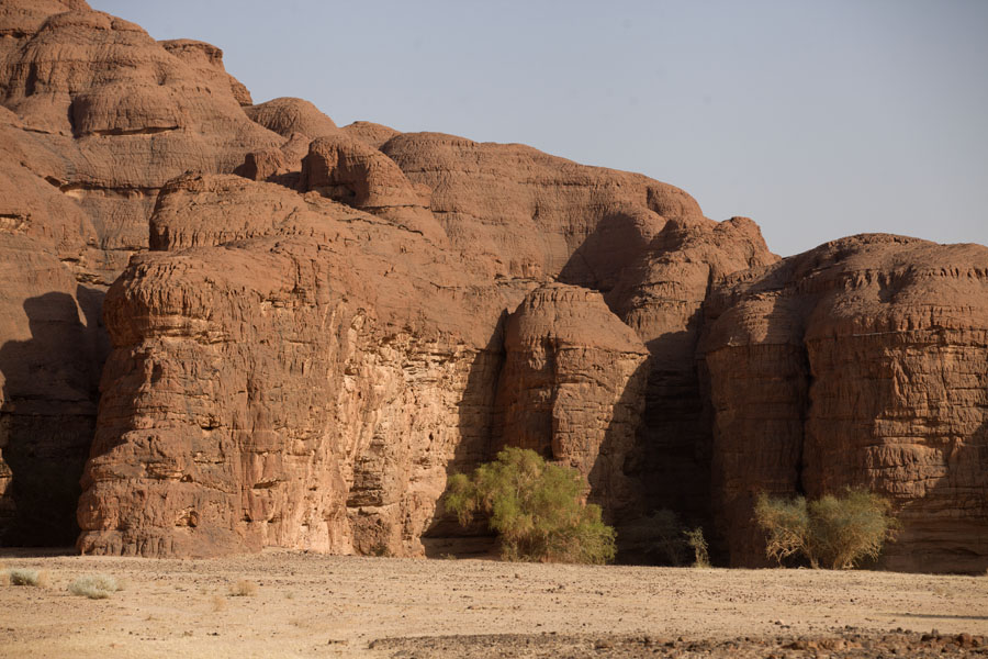 Overview of rock formations in the west Terkei massif | Terkei amphitheatre west | Chad