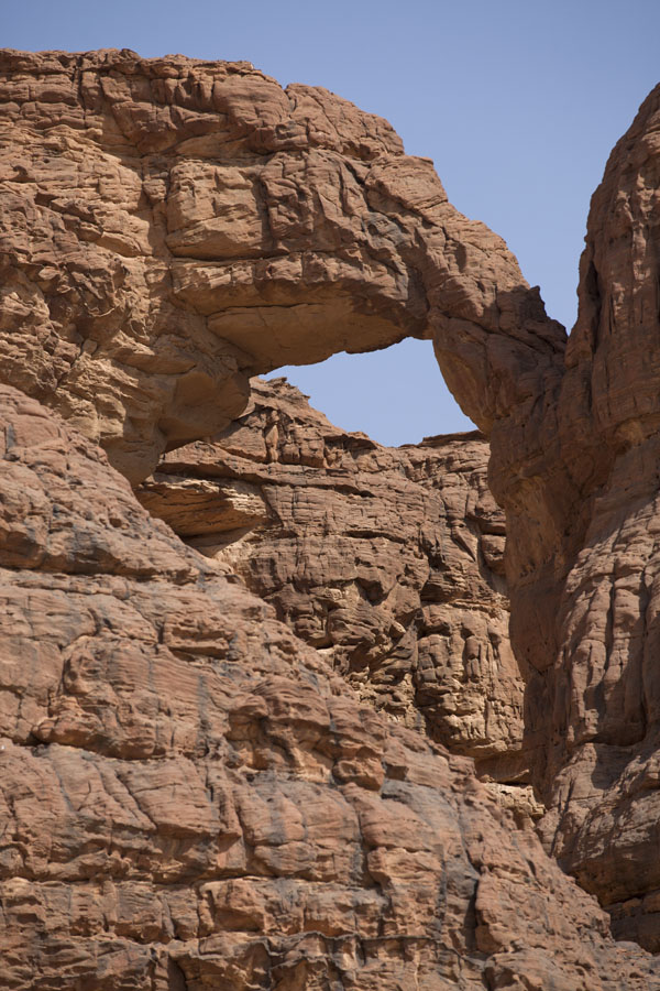 Rock formation with big hole | Terkei amphitheatre west | Chad