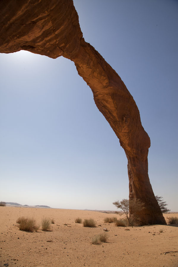 Standing under an arch in the Bichagara region | Bichagara | Tsjaad