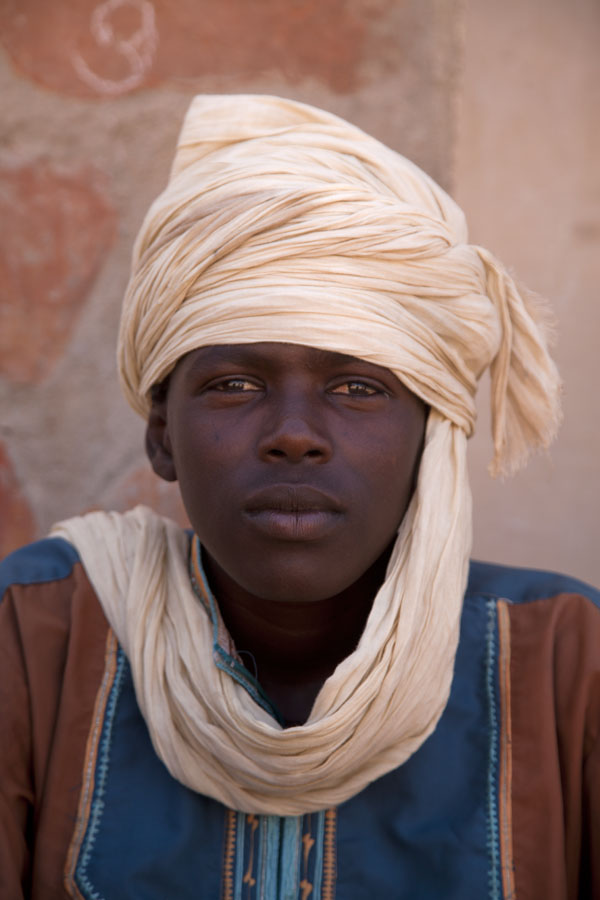 Picture of Bpy with traditional headdress in northern Chad - Chad - Africa