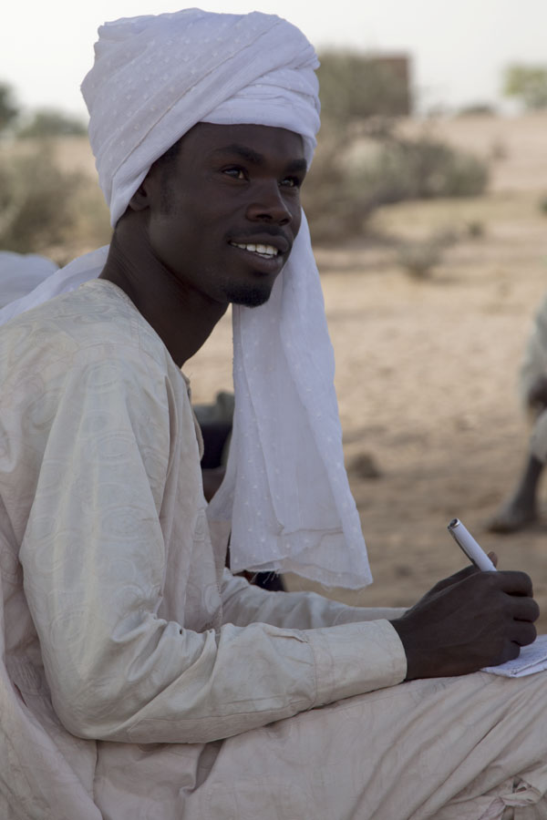 Picture of Young man in white dress in central Chad