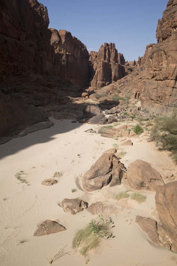 Looking into the canyon leading to the Guelta d'Archeï | Guelta d'Archeï | Chad