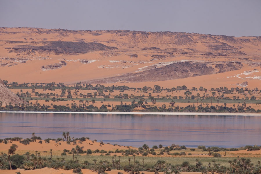 One of the bigger salt water lakes in the region | Ounianga Lakes | Chad
