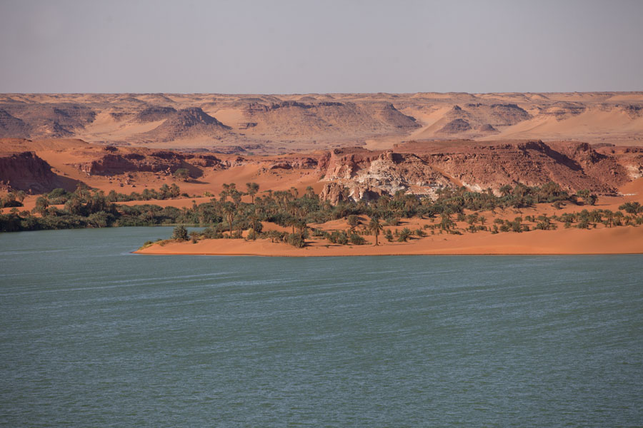 Picture of Ounianga Lakes (Chad): View over Ounianga Kebir, the largest salt water lake in the region