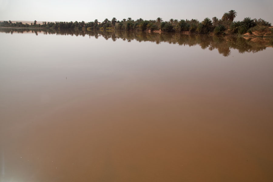 Picture of Still water in a salt lake of Teguedei - Chad - Africa