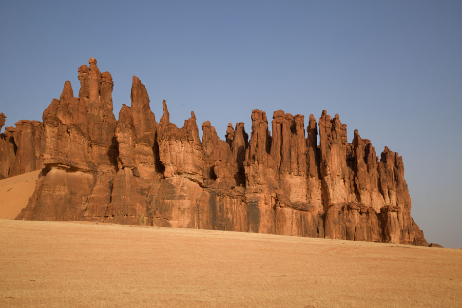 Picture of Terkei Kisimi (Chad): Tens of pillars make this rock formation at Terkei Kisimi look like a cathedral